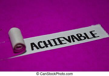 concept, pourpre, positif, déchiré, texte, vibes, papier, achievable, inspiration