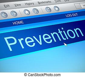 concept., prévention, ligne