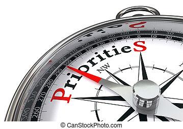 concept, priorities, compas