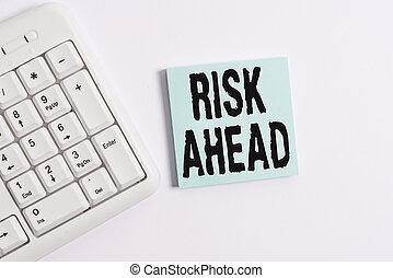 concept, probabilité, texte, papier, clavier, arrière-plan., écriture, note, pc, au-dessus, blanc, vide, ahead., risque, business, blessure, perte, mot, abîmer, responsabilité, menace, ou