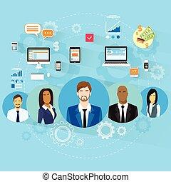 concept, professionnels, informatique, appareil numérique, ...