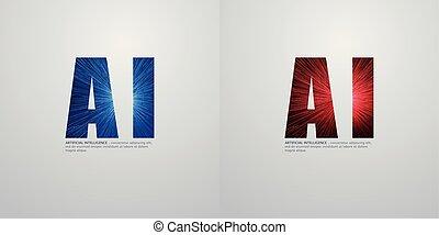 concept, -, profond, ai, vecteur, conception, illustration, apprentissage, avenir, technologie