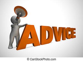 concept, projection, aide, ruses, -, illustration, direction, pointes, icône, conseil, 3d