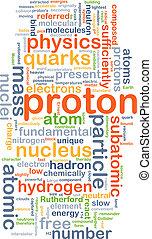 concept, proton, fond