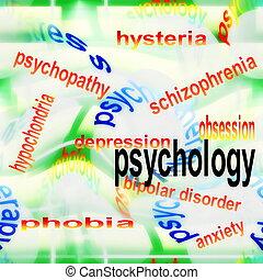 concept, psychologie, fond