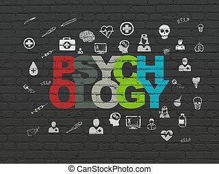 concept:, psychologie, fond, santé, mur