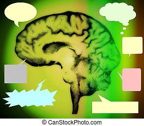 concept, psychologie, fond, vide