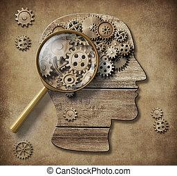 concept, psychologie, illustration, 3d