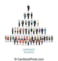 concept, pyramide, business