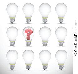 concept, question, idée, illustration, marque