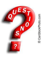 concept, question, questions, incorporé, marque