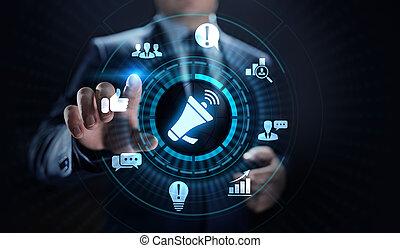 concept., réaction, testimonials, satisfaction, revue, service clientèle, business