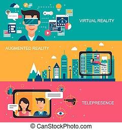 concept, réalité, virtuel