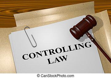concept, régler, droit & loi