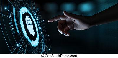 concept, réseau, business, ai, intelligence, numérique, artificiel, machine, cerveau, apprentissage, technologie internet