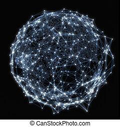 concept, réseau, communauté