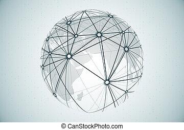 concept, réseau, connectivité, social