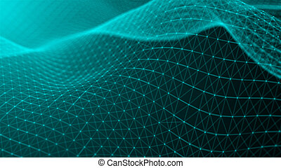concept, réseau, dots., résumé, arrière-plan., connexion, technologie