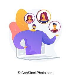 concept, résumé, client, illustration., vecteur, persona