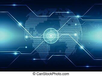 concept, résumé, global, vecteur, fond, technologie numérique