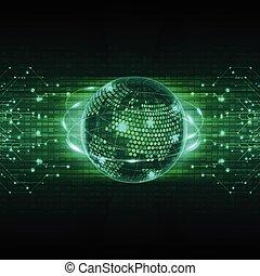 concept, résumé, vecteur, fond, avenir, technologie