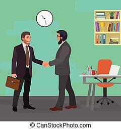 concept, réunion, business