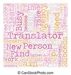 concept, réussi, texte, indépendant, translator, comment, wordcloud, fond, devenir