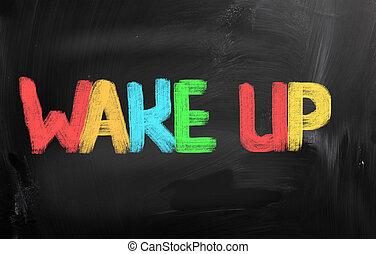 concept, réveiller