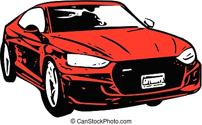 Red Sportscar Vehicle Silhouette - Concept Red Sportscar ...