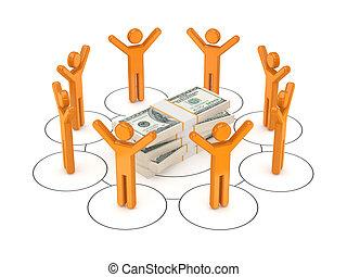 concept., rede, negócio