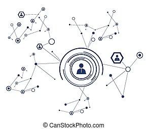 concept., rede, social