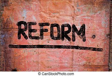 concept, reform