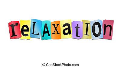 concept., relaxamento