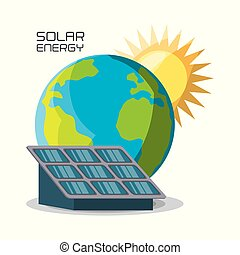 concept releated with solar power, vector illustration