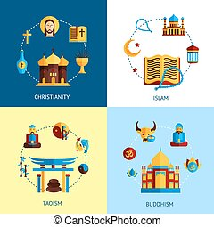 concept, religie, vastgesteld ontwerp
