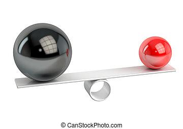 concept, rendre, équilibre, 3d