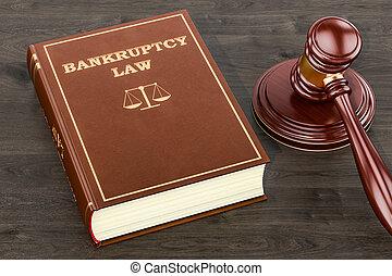 concept, rendre, droit & loi, faillite, 3d