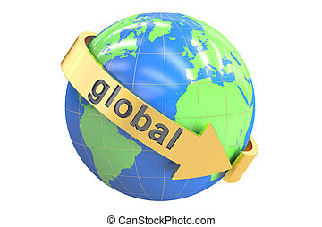 concept, rendre, global, 3d