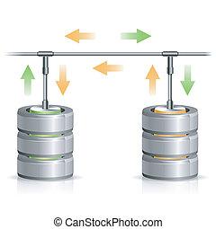 concept, reservekopie, databank