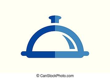 concept, restaurant, nourriture, résumé, logo, icône