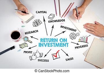 concept, retour, investissement