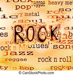 Concept Rock music word backgrounds