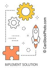 concept., rozwiązywanie, rozłączenie, idea, sprzęt, problem