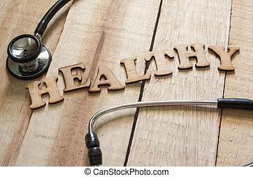 concept, sain, santé médicale, soin