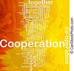 concept, samenwerking, achtergrond
