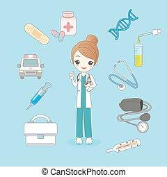 concept, santé, docteur
