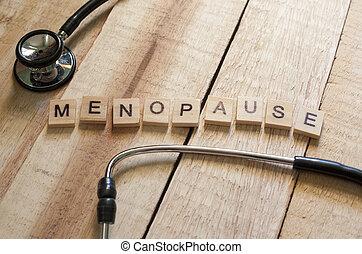 concept, santé médicale, ménopause, soin