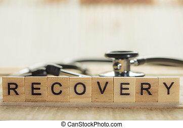 concept, santé médicale, récupération, soin