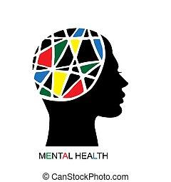 concept, santé mentale
