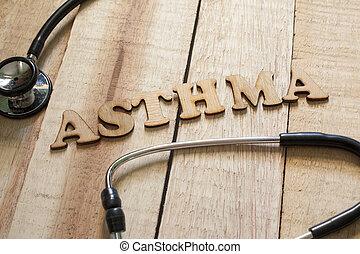 concept, santé, monde médical, asthme, soin